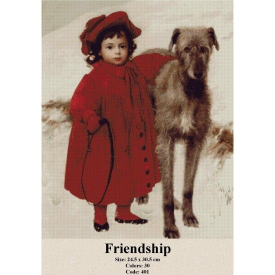 Cross Stitch Kit Friendship http://gobelins-tapestry.com/portraits/848-friendship.html