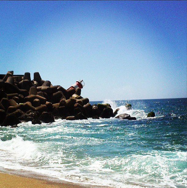 #lighthouse #waves #beach #Nazaré #sea #summer