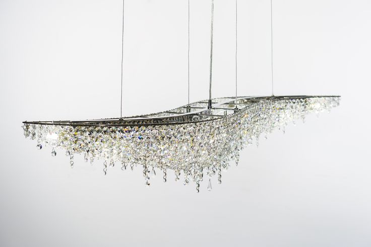 VAGUE Crystal pendant lamp by Manooi #Manooi #crystalchandelier #chandelier #lighting #design #Vague #luxury #furniture