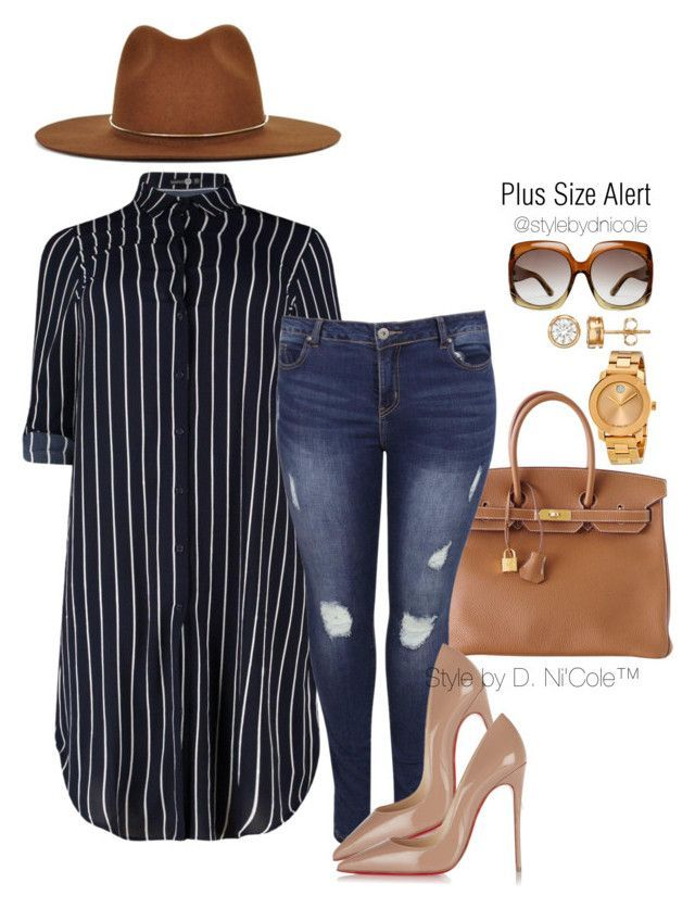 """""""Untitled #3099"""" by stylebydnicole ❤ liked on Polyvore featuring Hermès, Christian Louboutin, Janessa Leone, Movado, Tom Ford, women's clothing, women's fashion, women, female and woman"""