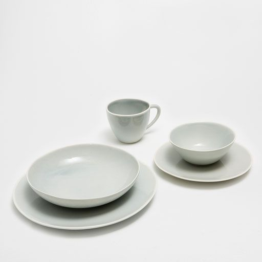 Image of the product PLAIN GREYISH BLUE EARTHENWARE TABLEWARE