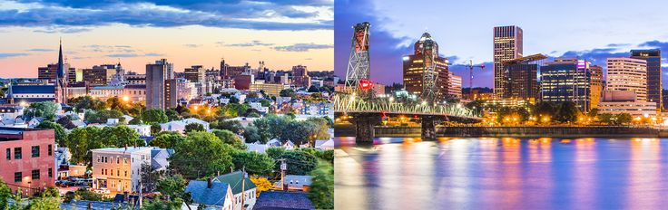 A tale of two identically named American cities (one in Maine and one in Oregon) with unique historical and cultural ties.