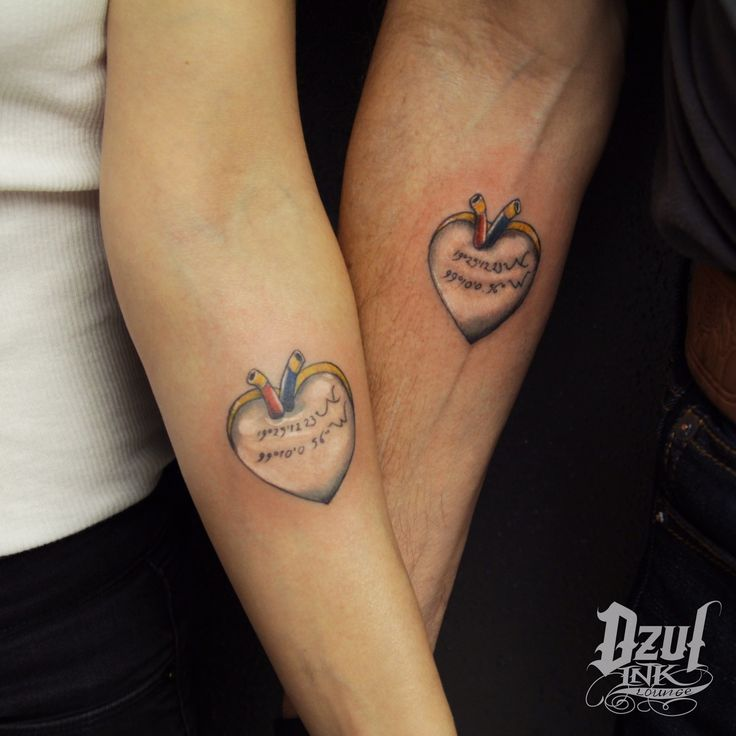 20 best couple tattoos by dzul images on pinterest for Valentines tattoo seattle