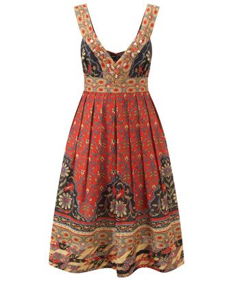 Joe Browns Key West Sunset Dress - laid-back with a sprinkling of beading, this dress is perfect for watching the sunset on a warm Miami beach #dresses