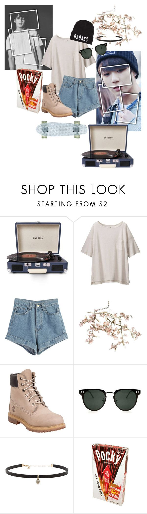 """""""let's escape and forget the world"""" by carterdiaz06 ❤ liked on Polyvore featuring Crosley Radio & Furniture, Uniqlo, WithChic, Canopy Designs, Timberland, Spitfire, Carbon & Hyde, kpop, MyStyle and bts"""