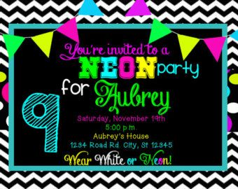 The 25 best Neon party invitations ideas on Pinterest