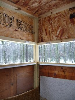 22 best deer stand ideas images on pinterest hunting for Inside deer blind ideas