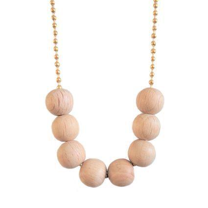 Kahdeksikko, kulta | Weecos #annieeleanoora #puutajakultaa #kahdeksikko #kaulakoru #woodandgold #eightsome #necklace