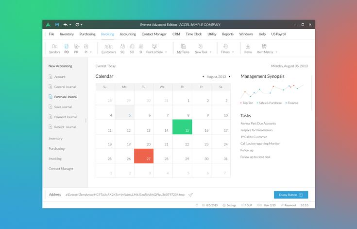 Flat desktop software mobile app accounting manager calendar accounting journal dribbble ux ui everest advanced edition