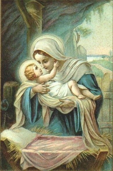 Tenderness felt by Jesus in th arms of His Mama. He is Our Brother, God is Our Father, Mary...