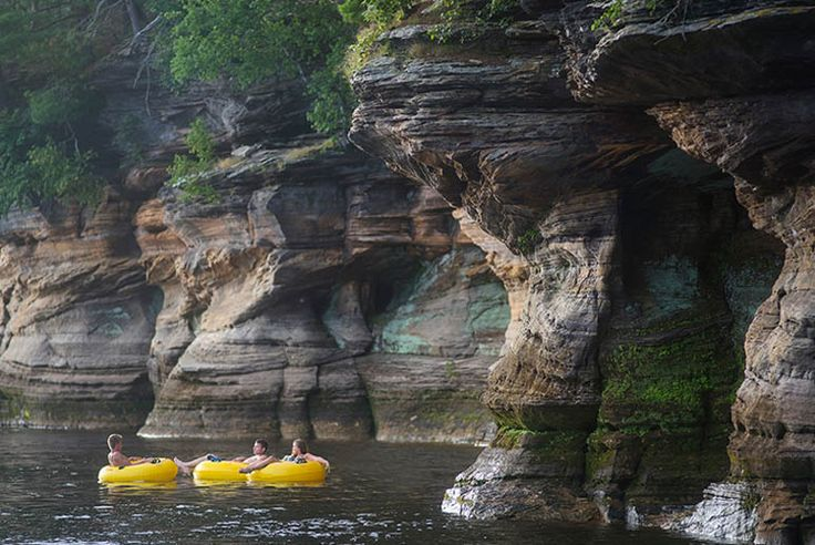Float down the Wisconsin River in a tube with your friends!