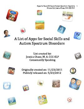 Social Skills and Autism Spectrum Disorders Application List - Pinned by @PediaStaff – Please Visit ht.ly/63sNt for all our pediatric therapy pins