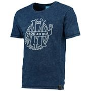 Olympique de Marseille Lifestyle Heritage T-Shirt - Washed Navy