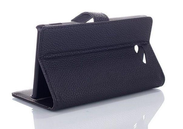 Θήκη Πορτοφόλι Wallet Case Μαύρο (Sony Xperia M2 S50h) - myThiki.gr - Θήκες Κινητών-Αξεσουάρ για Smartphones και Tablets - Χρώμα μαύρο