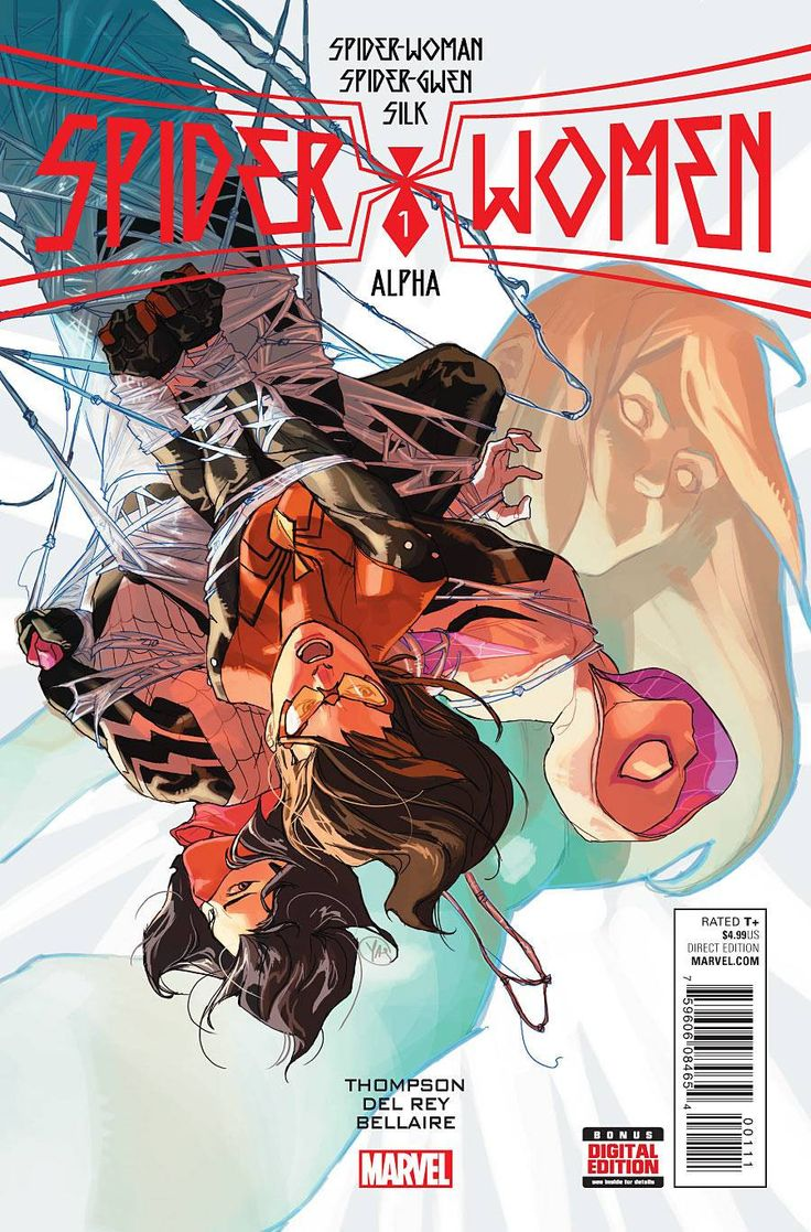 SPIDER-WOMEN PART 1! The Spider-Event of 2016 is here, bringing SPIDER-GWEN, SILK and SPIDER-WOMAN together for a story too big for any one of their books! Spider-Woman is taking a mentor-role with Si