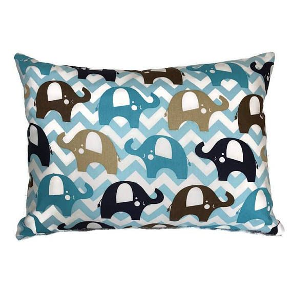 childu0027s travel pillow cover sweet blue elephant bed pillow