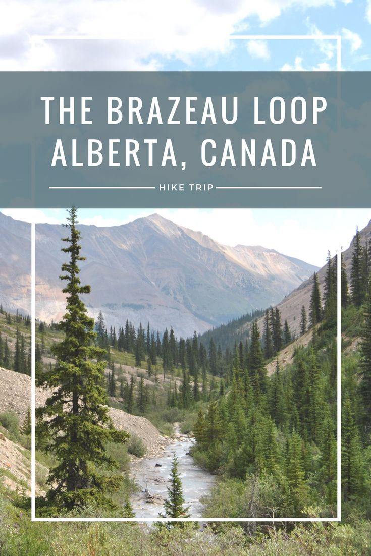 Want a true backcountry experience? Want to be alone on the trails, and discover Alberta untouched? Hike 81km on the Brazeau Loop in Jasper National Park, Canada #Icefields