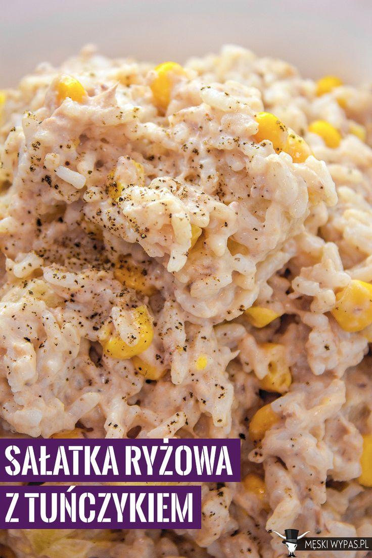 Sałatka ryżowa z tuńczykiem. Błyskawiczna i smaczna.