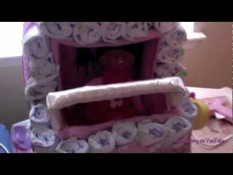 How to Make a Diaper Stroller Cake - YouTube