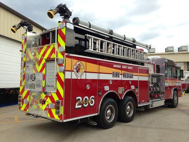 Ten 8 Fire Equipment Industrial Pumper delivered to Broward County ...