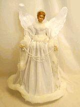 Regency Christmas decoration white velvet angel tree topper On sale $54.74 at www.laraines.com