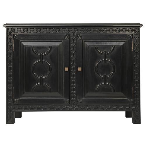 Agata Global Bazaar Black Mahogany Solid Wood Sideboard