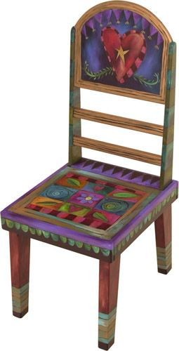 Painted Round Back Chair