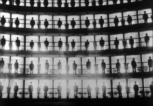 """Inmates Standing in Their Cells, Cuba,"" 1926  Awesome photo from The Burns Archive depicting a Panoptican Prison"