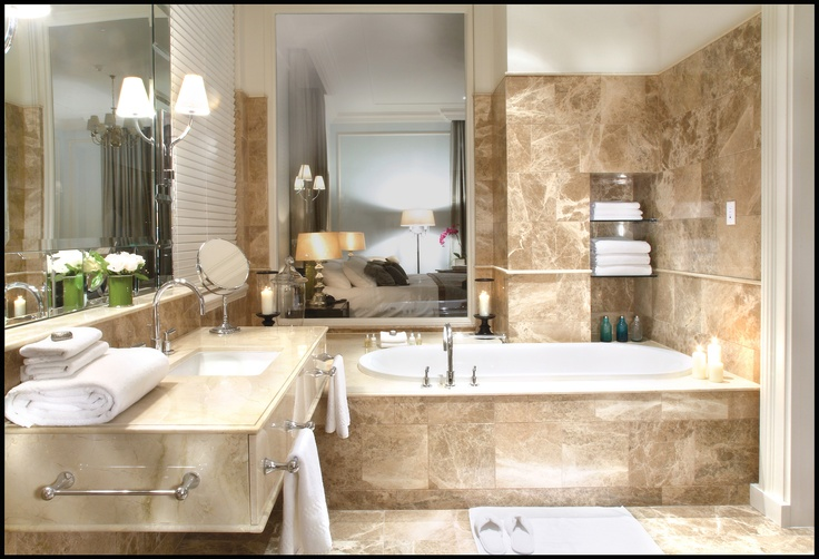 A bathroom at the Taj Hotel Cape Town - the perfect place to relax after a tiring day exploring this wonderful city