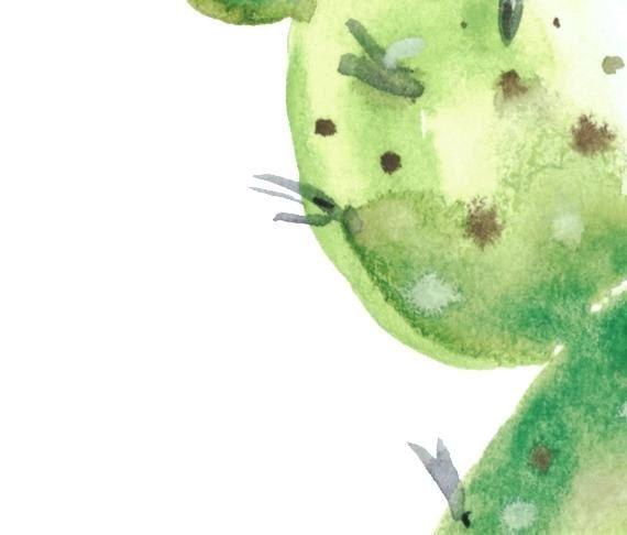 Cactus print - Succulent Art - Printable Art Watercolor - Cactus Printable - Mid Century Modern - Cactus plant - Cactus Wall Art by ArtMii