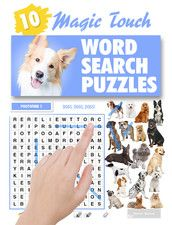 This lifestyle themed issue of Magic Touch Wordsearch Puzzles includes 10 puzzles created especially for dog lovers.  Each puzzle has a dog related theme, and as a special bonus 2 Photofind puzzles have been included to challenge even the most avid canine enthusiast. The Magic Touch Wordsearch Puzzle series of interactive books was created for the tablet reader who enjoys traditional Wordsearch puzzles in print.  https://itunes.apple.com/au/book/magic-touch-dogs-wordsearch/id567359256?mt=11