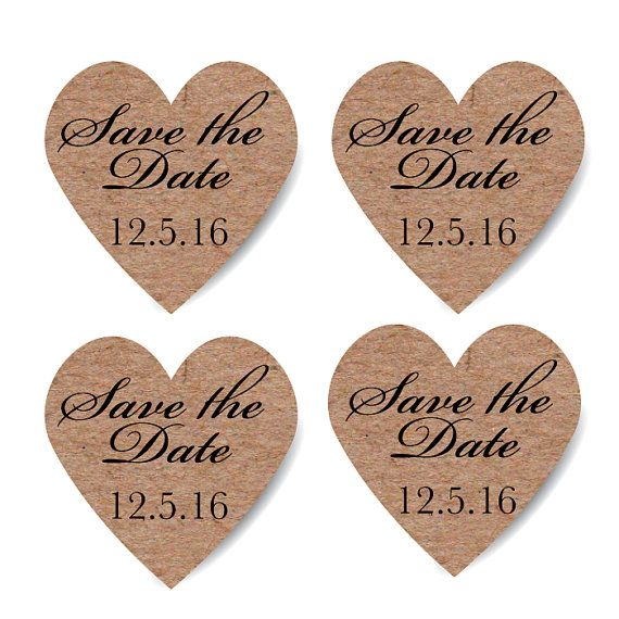 Custom save the date stickers heart krafts by stickemuplabels 5 50