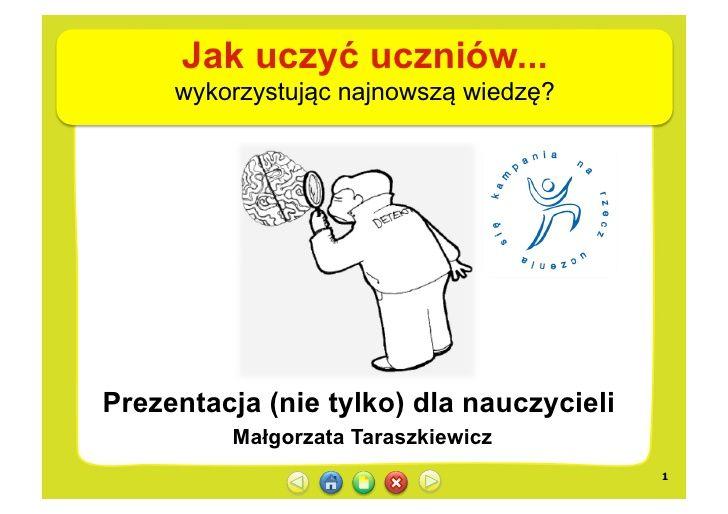 Jak uczyć uczniów? Małgorzata Taraszkiewicz