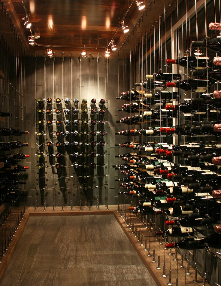 A little cable goes a long way. Check out Cable Wine Systems latest custom wine cellar!