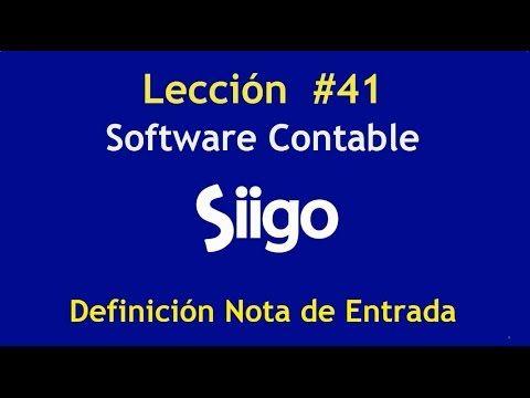556. Lección # 41 Definición Nota de Entrada _ Software Contable SIIGO