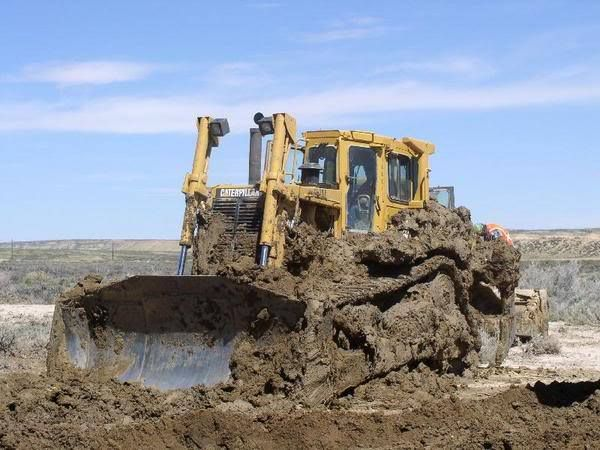 Looks like they had some trouble getting over the hump! Happy Wednesday! #HeavyEquipment #Construction #Dozers