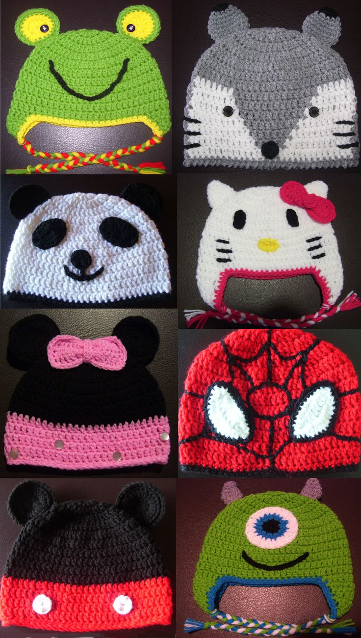 Gorros a crochet para bebés, niños y adolescentes