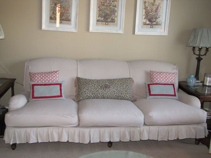 Sofa How To Make A Slipcover With Three Plants Photo Framed Beautiful Of Course