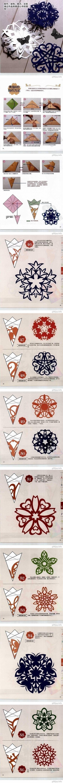 DIY Snowflakes Paper Cutting Tutorial