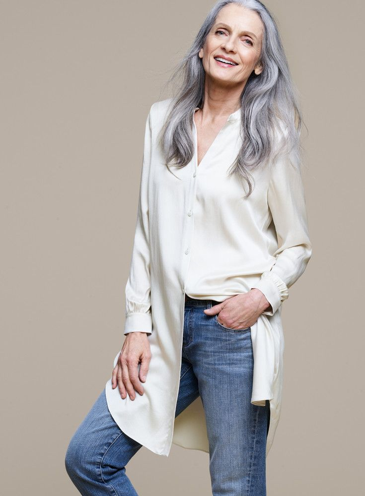 278fb3e6886284 Sandwashed Silk Charmeuse Shirtdress. Organic Cotton Stretch Boyfriend Jean.