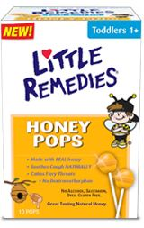 A friendlier way to use honey as a cough medicine, for toddlers and children 12 months and older. Little Remedies - Honey Pops