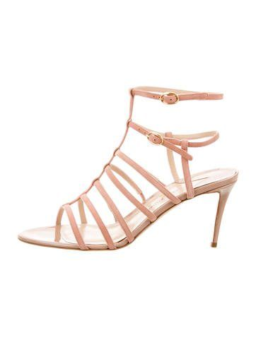 Paul Andrew Herringbone Caged Sandals w/ Tags
