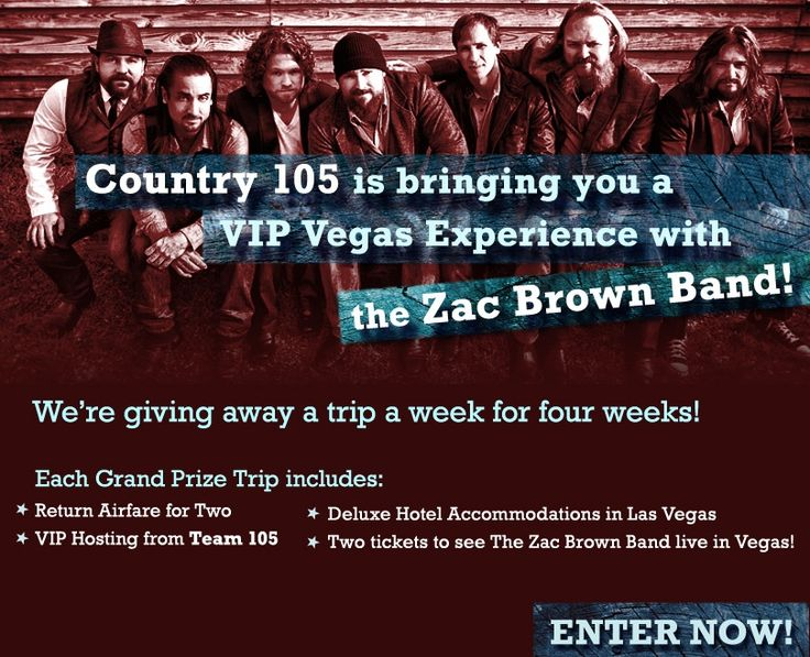 SoCast SRM & Country 105 Edmonton Launch The 'Zach Brown Band Vegas Experience'