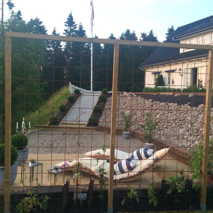 Uteplassen vår - our garden