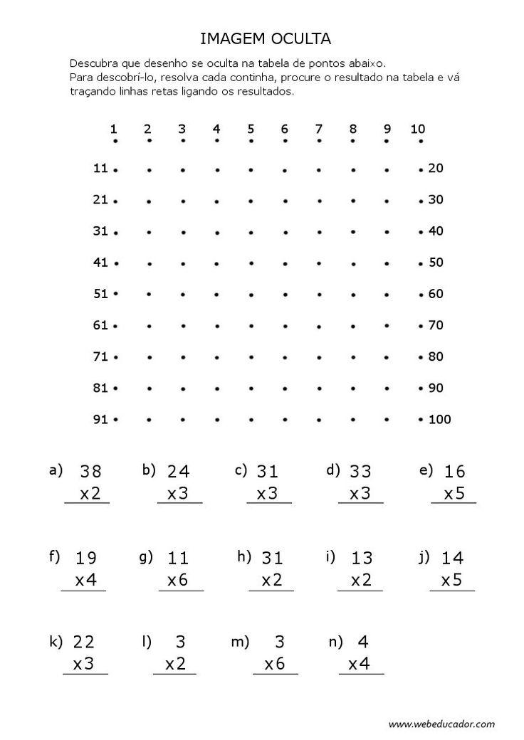 imagem oculta - multiplicação                                                                                           Mais