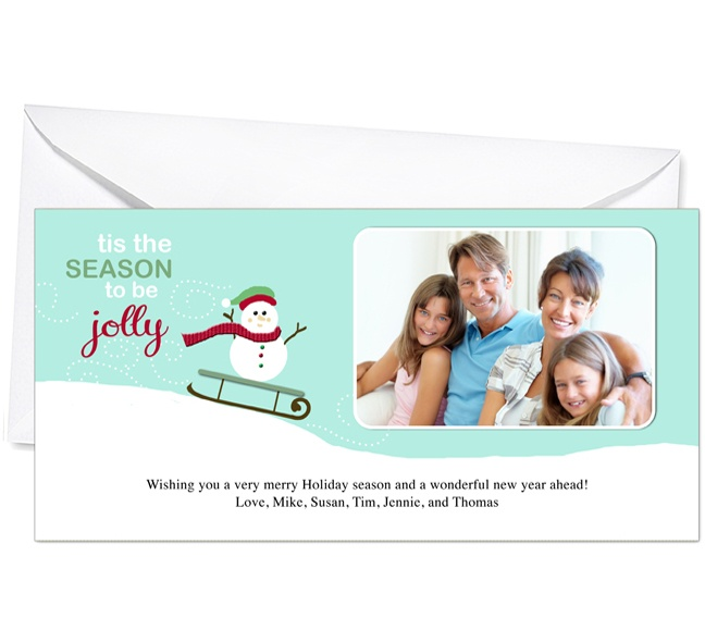 Photo Cards : Sleigh Christmas Holiday Photo Card Template