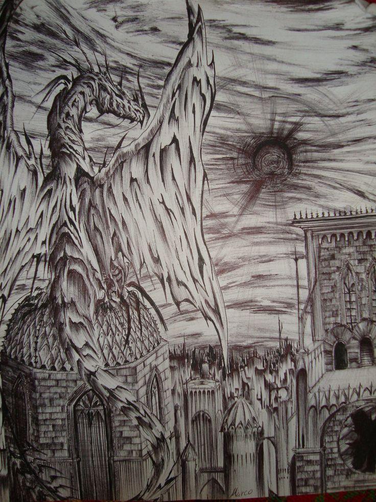 Libro negro de mis dibujos con boligrafo