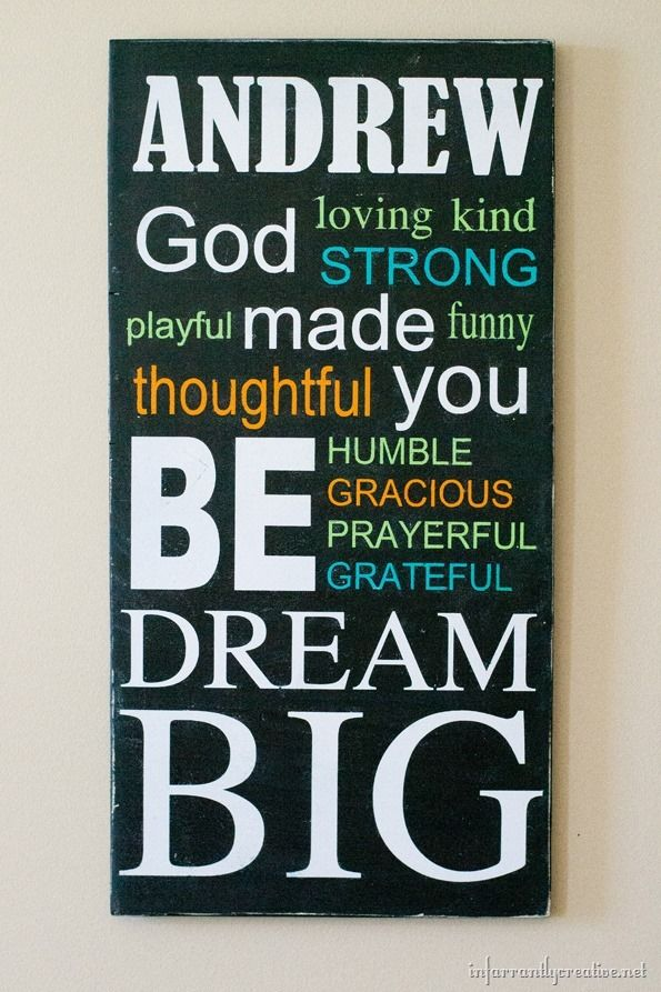 Want to create a meaningful and custom piece of wall art for your child's room? Check out this DIY name sign that makes an encouraging and empowering statement!