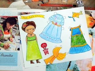 Frida Kahlo paper doll: Frida Kahlo paper doll