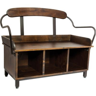Find Red Shed Western Wooden Bench With Back In The Furniture